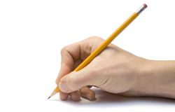 Hand with the pencil Royalty Free Stock Photo