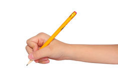 Hand with pencil Royalty Free Stock Image
