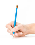 Hand with pencil Royalty Free Stock Images