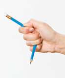 Hand with pencil Royalty Free Stock Photography
