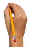 Hand with pencil Royalty Free Stock Photos