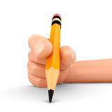 Hand and Pencil. 3d render of a hand holding a pencil Stock Photo