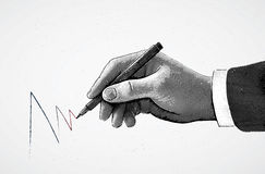 Hand and pencil Royalty Free Stock Image