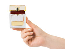 Hand with perfume Stock Image
