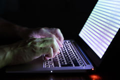 Hand Of A Person Typing On Laptop Royalty Free Stock Photo