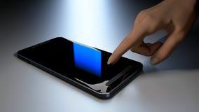 Hand and phone Stock Photo