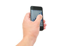 Hand with phone royalty free stock images