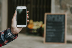 Hand phone mobile royalty free stock photo