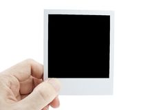 Hand with photo Royalty Free Stock Image
