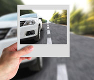 Hand With Photo of Car Royalty Free Stock Photo