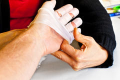 Hand physiotherapy to recover Royalty Free Stock Photo