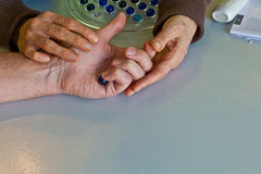 Hand physiotherapy Stock Photography