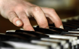 Hand of pianist Royalty Free Stock Images