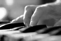Hand of pianist Stock Photos