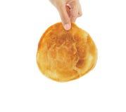 Hand pick pancake Stock Photo