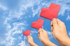 Hand picked heart Stock Photography