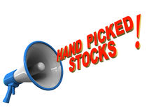 Hand picked stocks Royalty Free Stock Photos