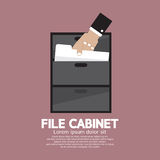 Hand Picking A Document From A File Cabinet Stock Images