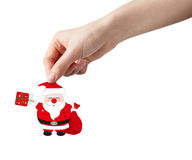 Hand picking santa clause Stock Photos