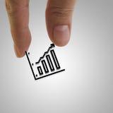 Hand picks pixel graph icon Royalty Free Stock Photo
