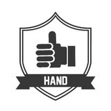 Hand pictogram Royalty Free Stock Image