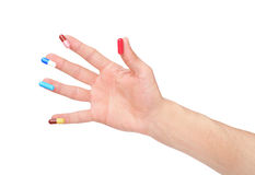 Hand and pill Royalty Free Stock Photos