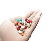 hand pills Royaltyfria Foton