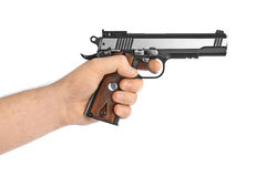 Hand with pistol Royalty Free Stock Images