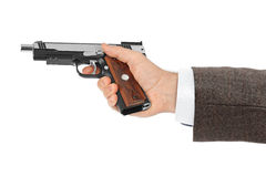 Hand with pistol Royalty Free Stock Photo