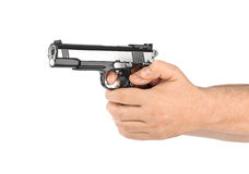 Hand with pistol Stock Images