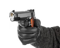 Hand with pistol Stock Photos