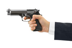 Hand with pistol royalty free stock photography