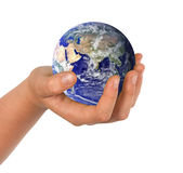Hand with planet Earth Royalty Free Stock Image