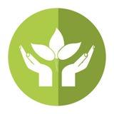 Hand plant environment icon shadow. Vector illustration eps 10 Stock Photo