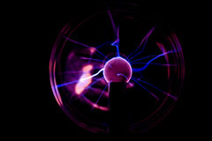 Hand on plasma ball Stock Photo