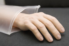 Hand from plastic Stock Images