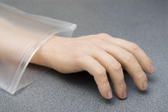 Hand from plastic Royalty Free Stock Photo