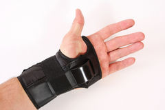 Hand plastic protection royalty free stock image