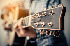 Hand play guitar. Stock Images