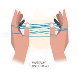 Hand play. Turned thread -  Stock Photography