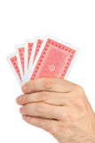 Hand with playing cards Royalty Free Stock Photography