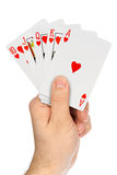 Hand with playing cards Royalty Free Stock Images
