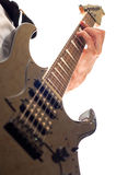 Hand playing electric guitar Royalty Free Stock Image