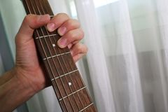Guitar chord D major Stock Photography