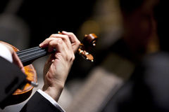 Hand Playing a Violin Royalty Free Stock Photography