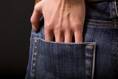Hand in pocket Stock Image