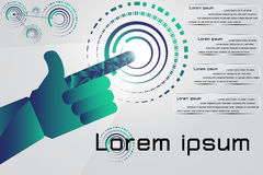 Hand point to success in business circle Stock Photos