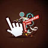 Hand pointer Stock Images