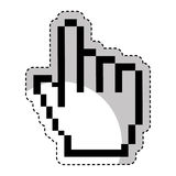 Hand pointer cursor icon Royalty Free Stock Image