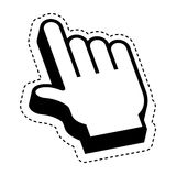 Hand pointer cursor icon Royalty Free Stock Photo